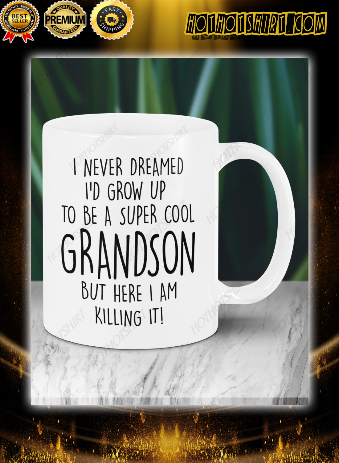 I never dreamed i'd grow up to be cool grandson Mugs