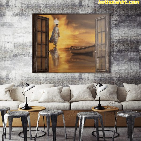Jesus Christian Through The Window Poster