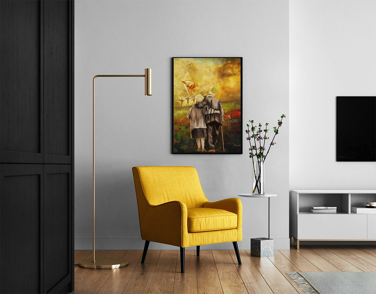 Jesus run to the beautiful world canvas prints 1