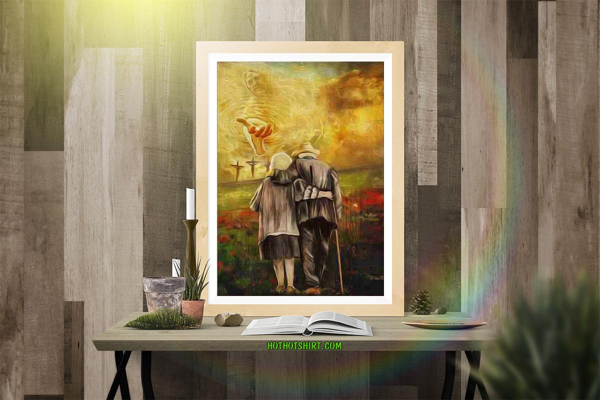 Jesus run to the beautiful world canvas prints 2