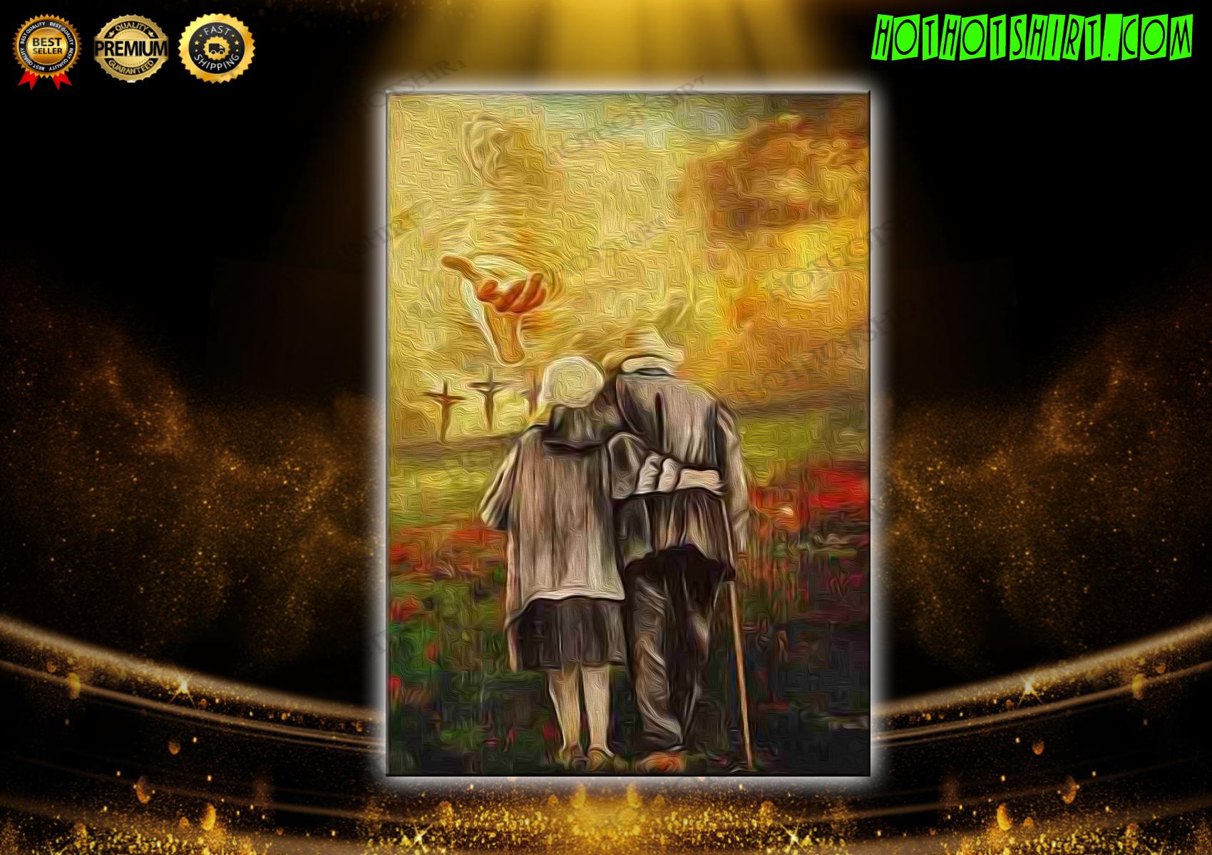 Jesus run to the beautiful world canvas prints
