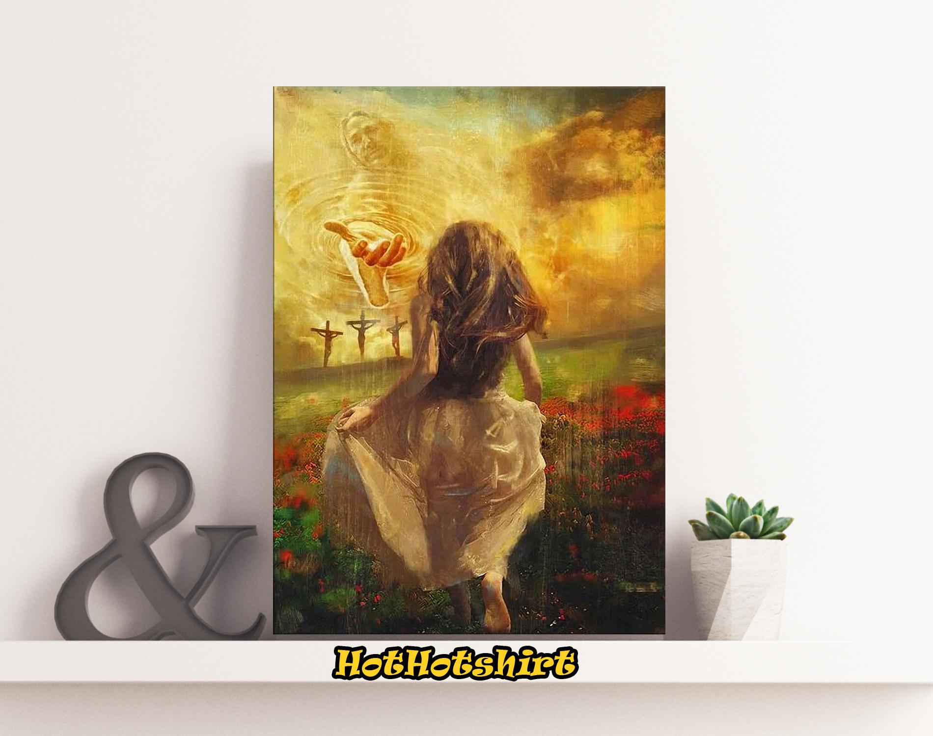 Jesus run to the beautiful world canvas
