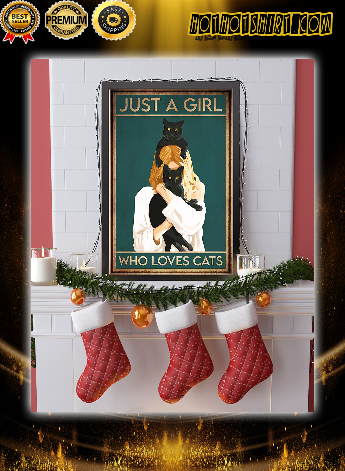 Just a girl who loves cats poster