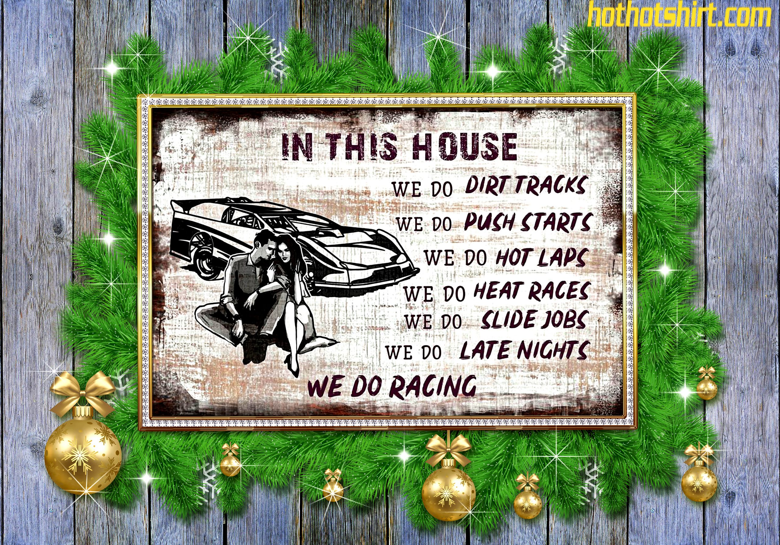 Late model in this house we do dirt tracks poster