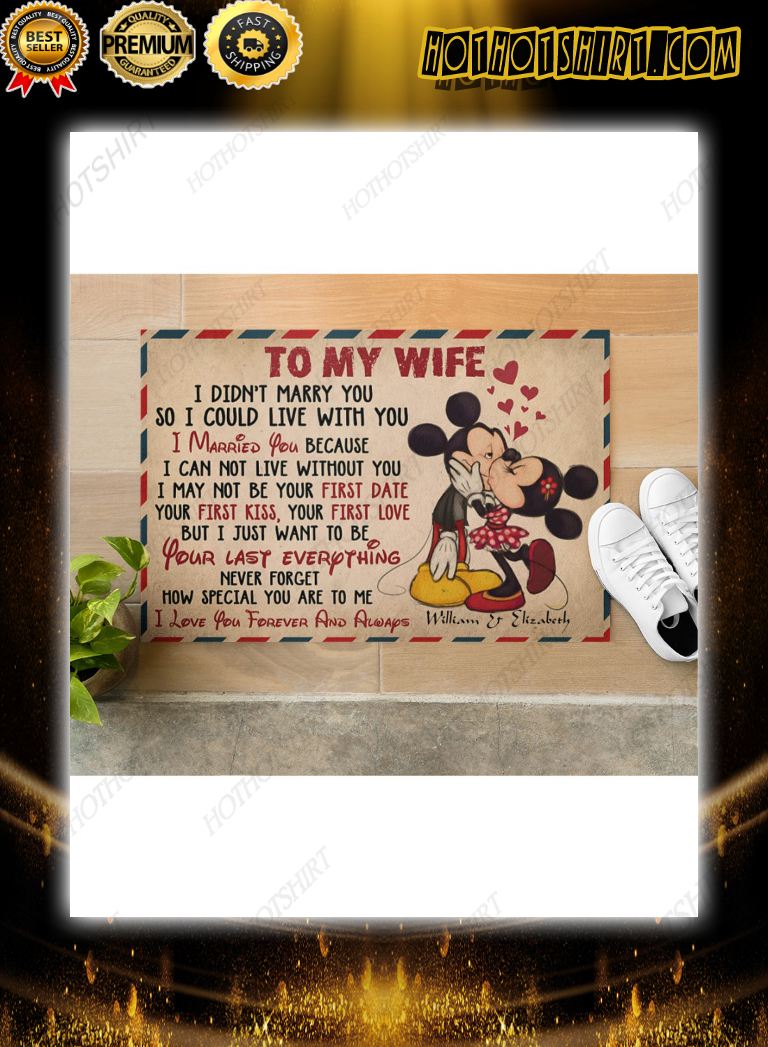Mickey and minnie to my wife how special you are to me poster 3