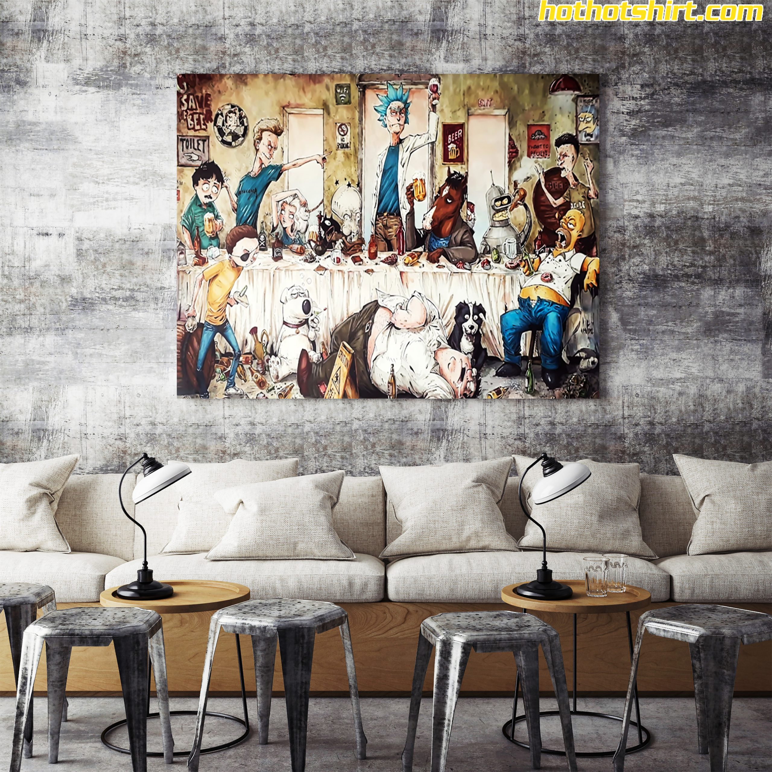 Rick and Morty – the last epic supper poster