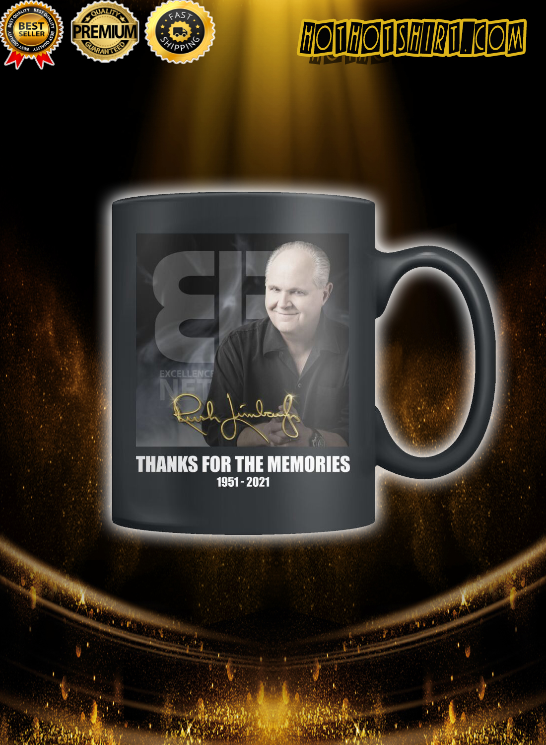 Rush Limbaugh Thanks for the memories Mug 1