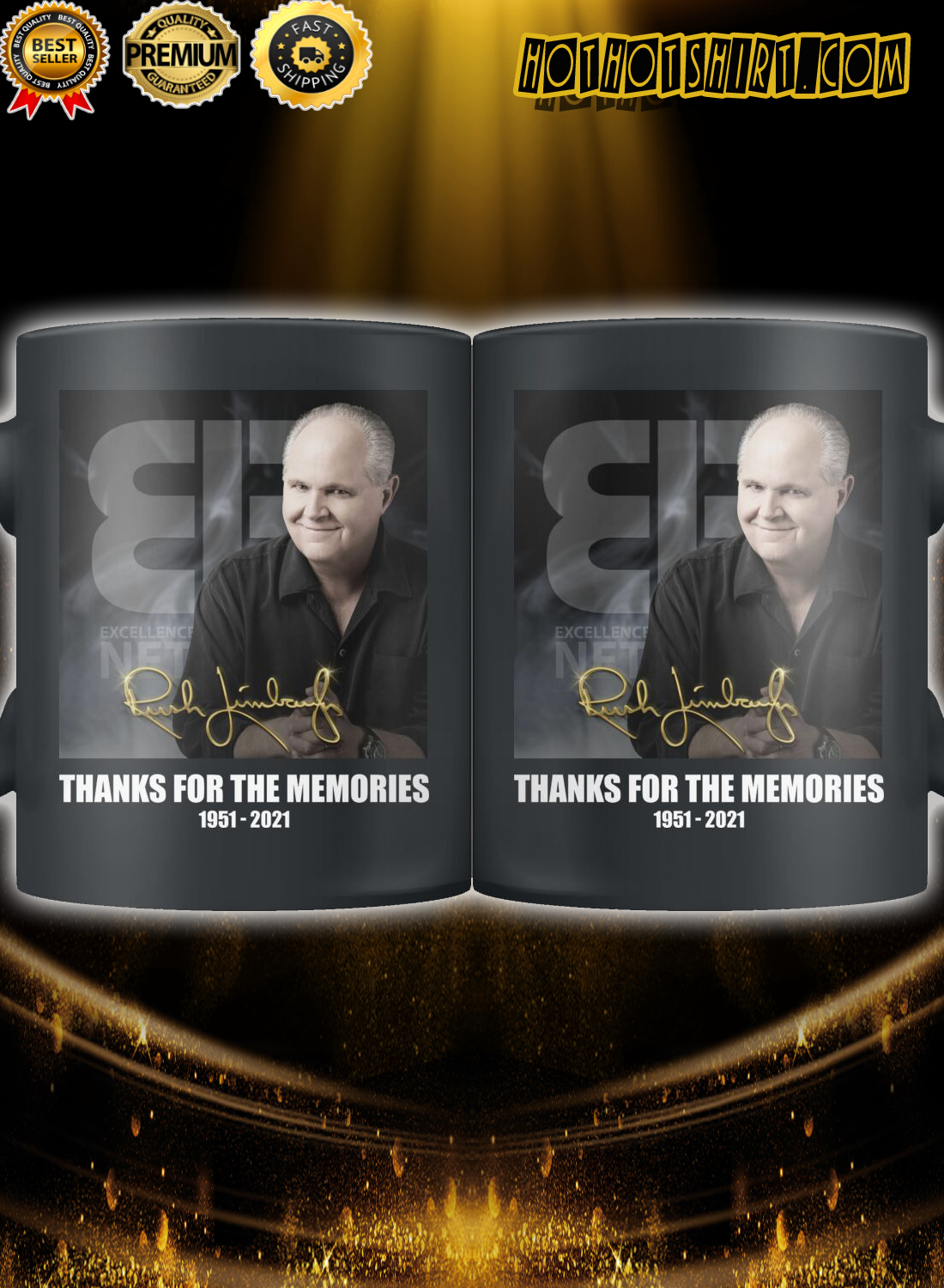 Rush Limbaugh Thanks for the memories Mug 2