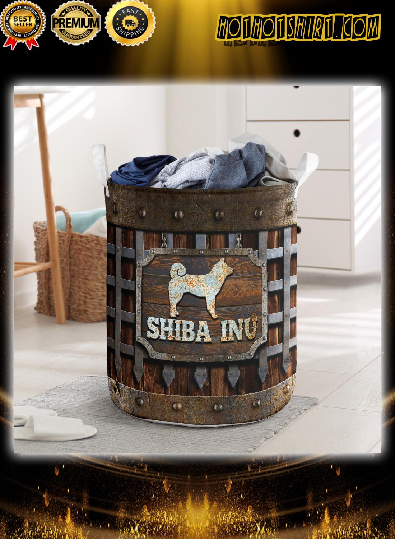 Shiba Inu iron vintage laundry basket