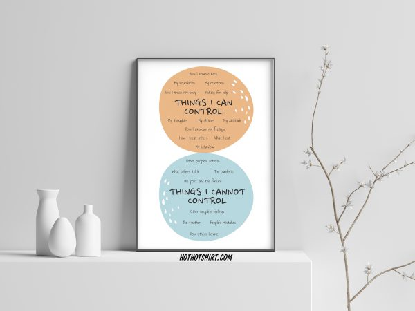 Social Worker My Circle Things I Can Control Poster
