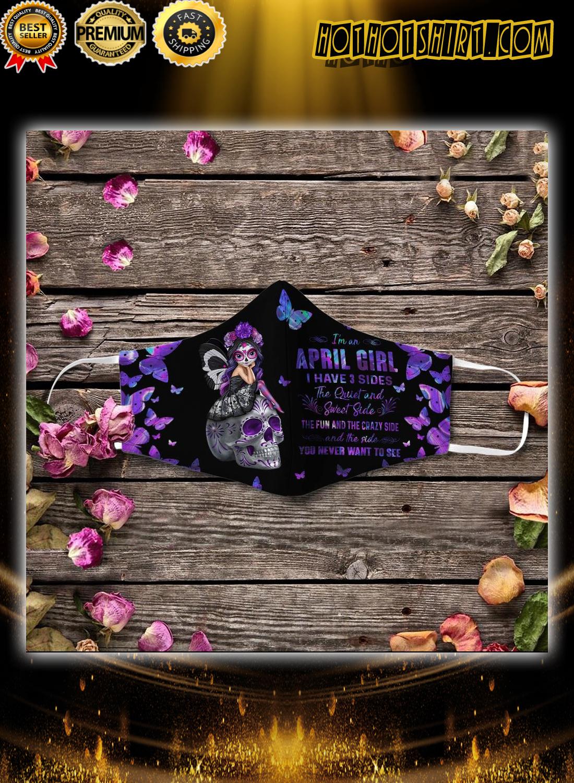 Sugar Skull I'm An April Girl face mask