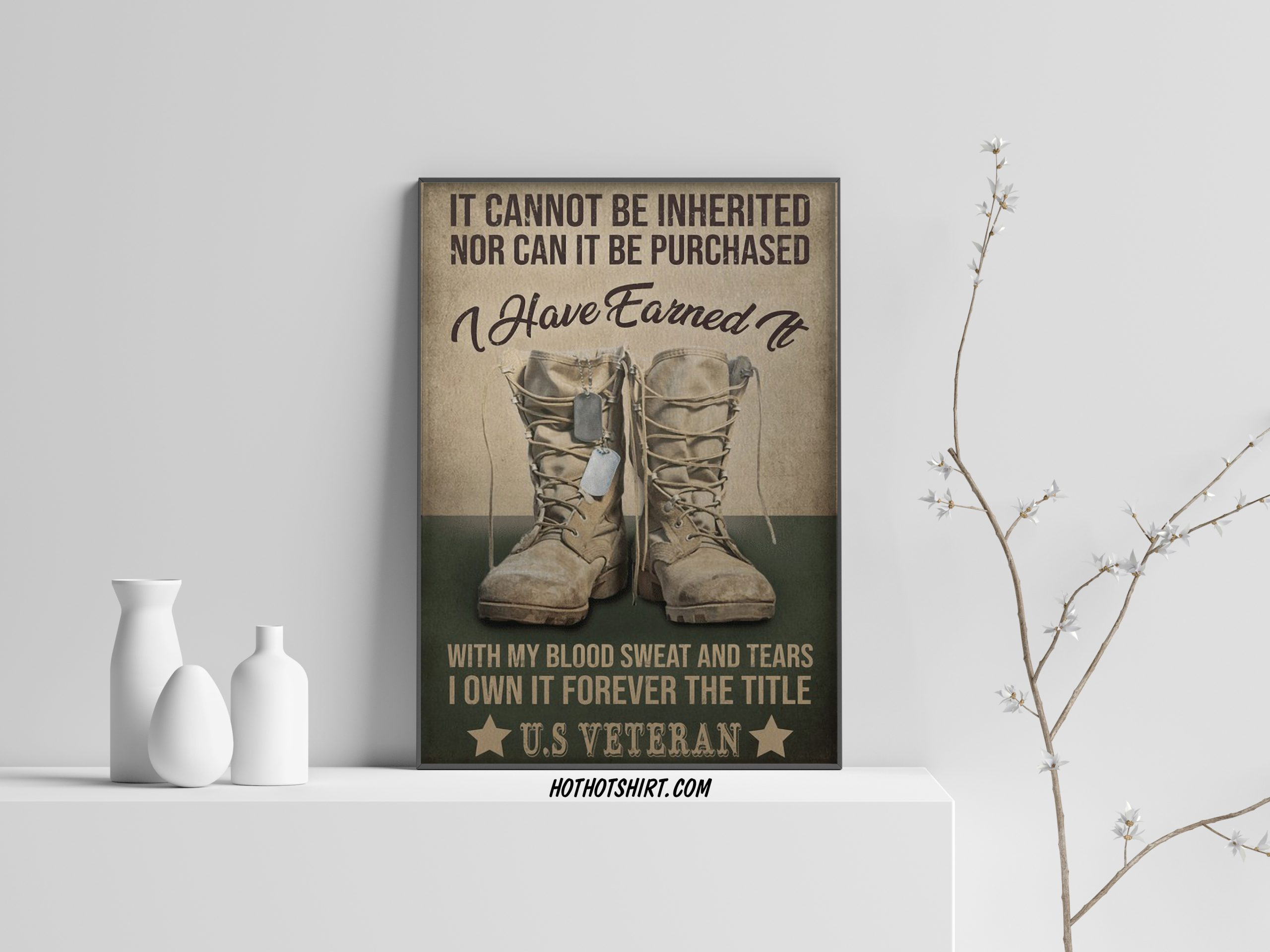 Veteran It cannot be inherited Not can it ever be purchased poster
