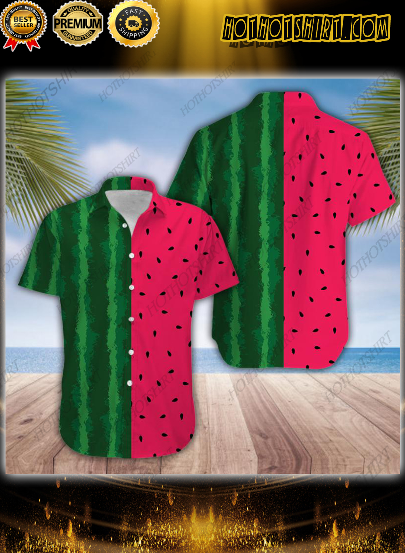 Watermelon Tropical Fruit Hawaiian Shirt