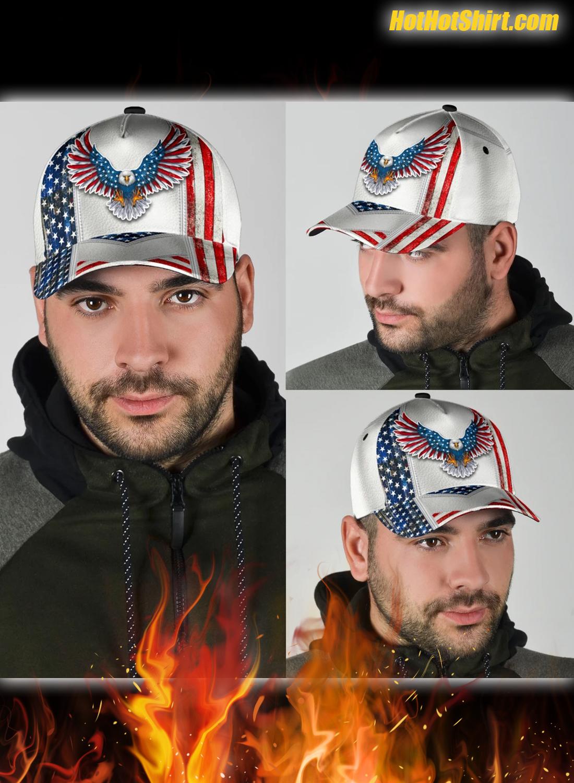 White american eagle classic cap