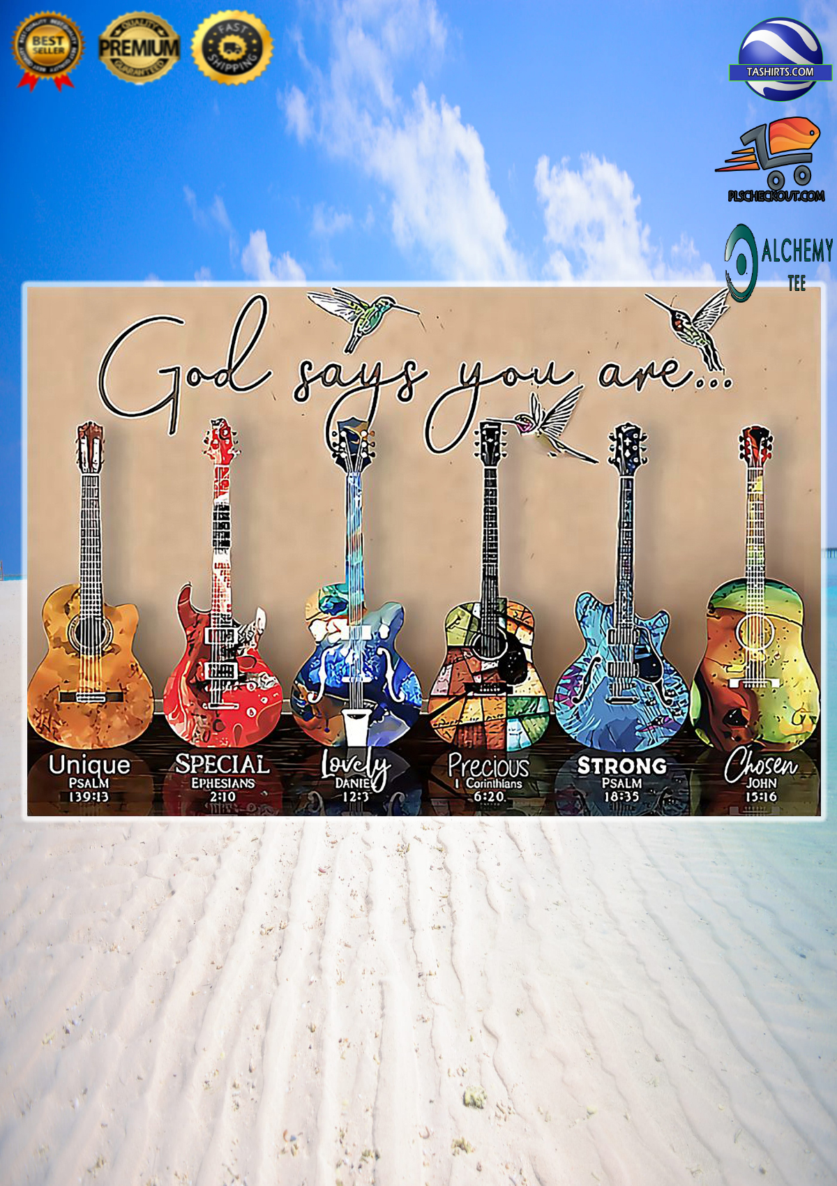 Guitar God Says You Are Unique Special Poster