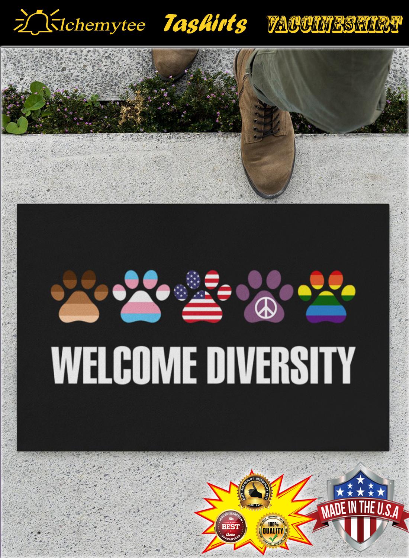 Paws wellcome diversity doormat