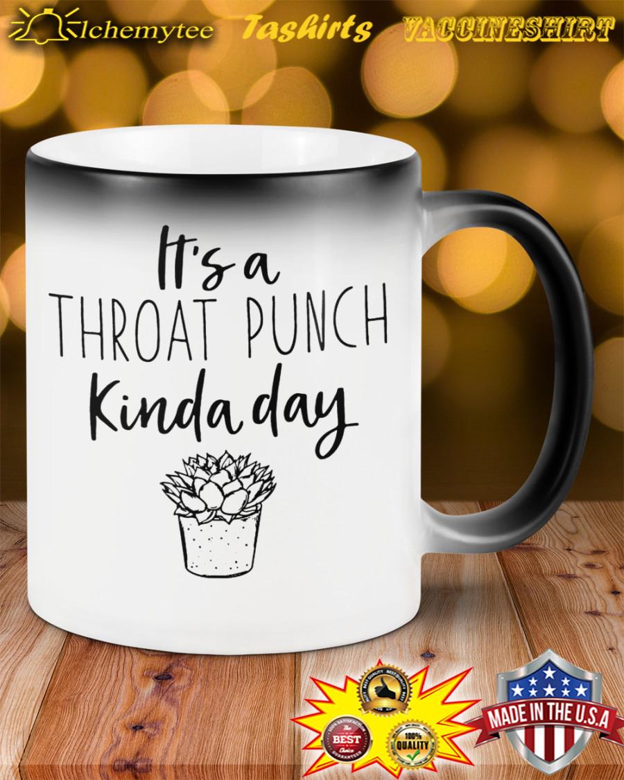 It's a throat punch kinda day flower mug