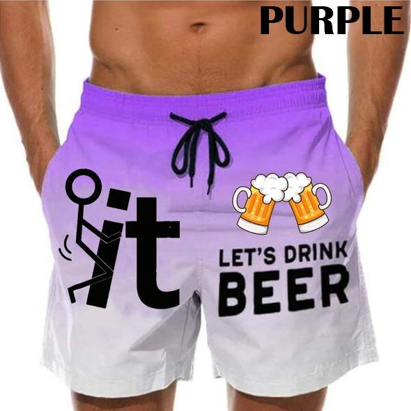 Let's Drink Beer Custom Trunks Short