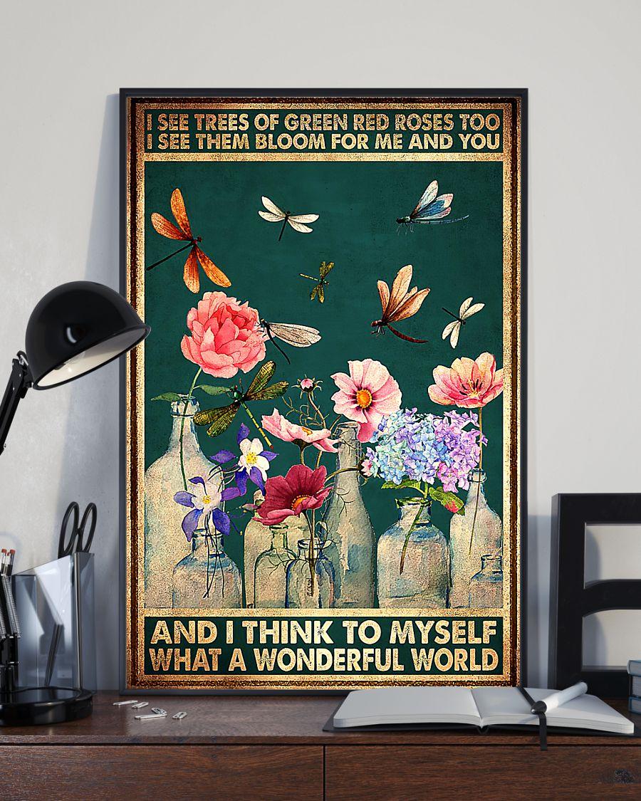 Dragonfly what a wonderful world lyrics poster