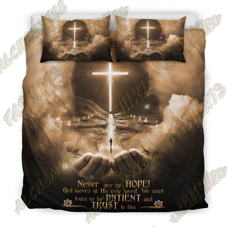 God jesus hand and moon bedding set
