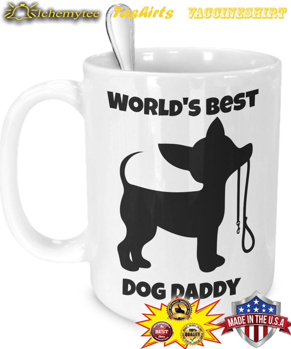 Word's best dog daddy mug