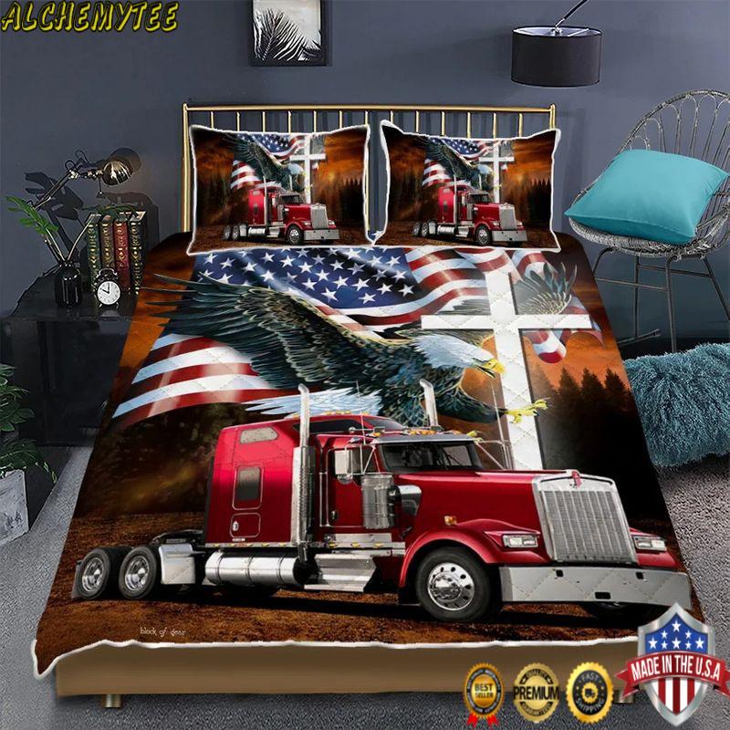 Jesus american eagle trucker bedding set