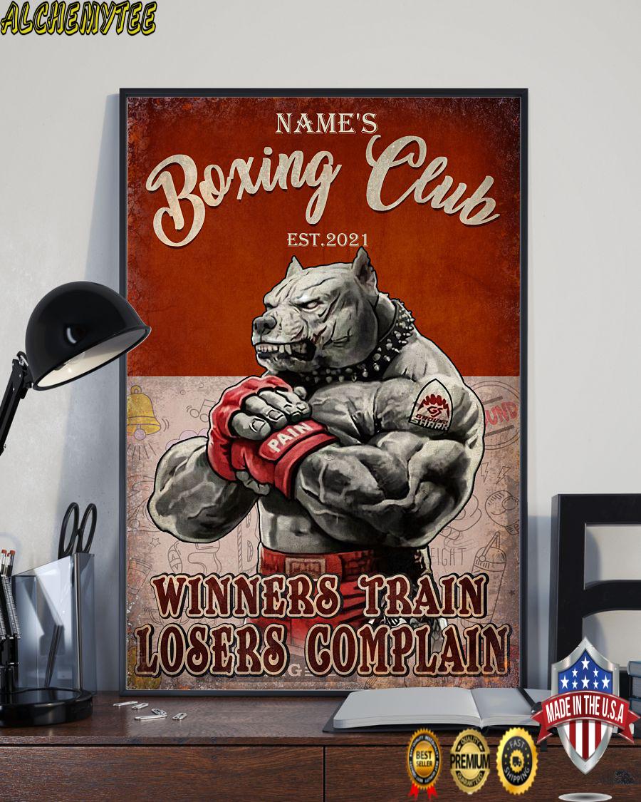 Boxing club winners train losers complain custom name poster