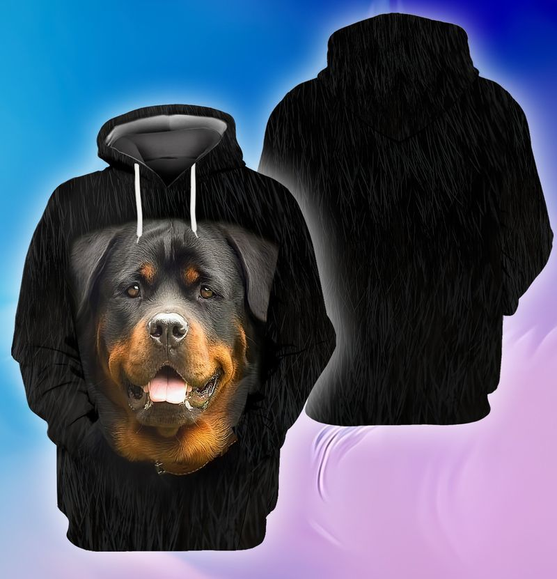 Rottweiler face lover 3d full print hoodie and shirts