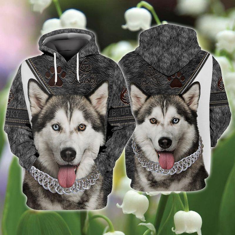 Love Husky 3d full print hoodie and shirts