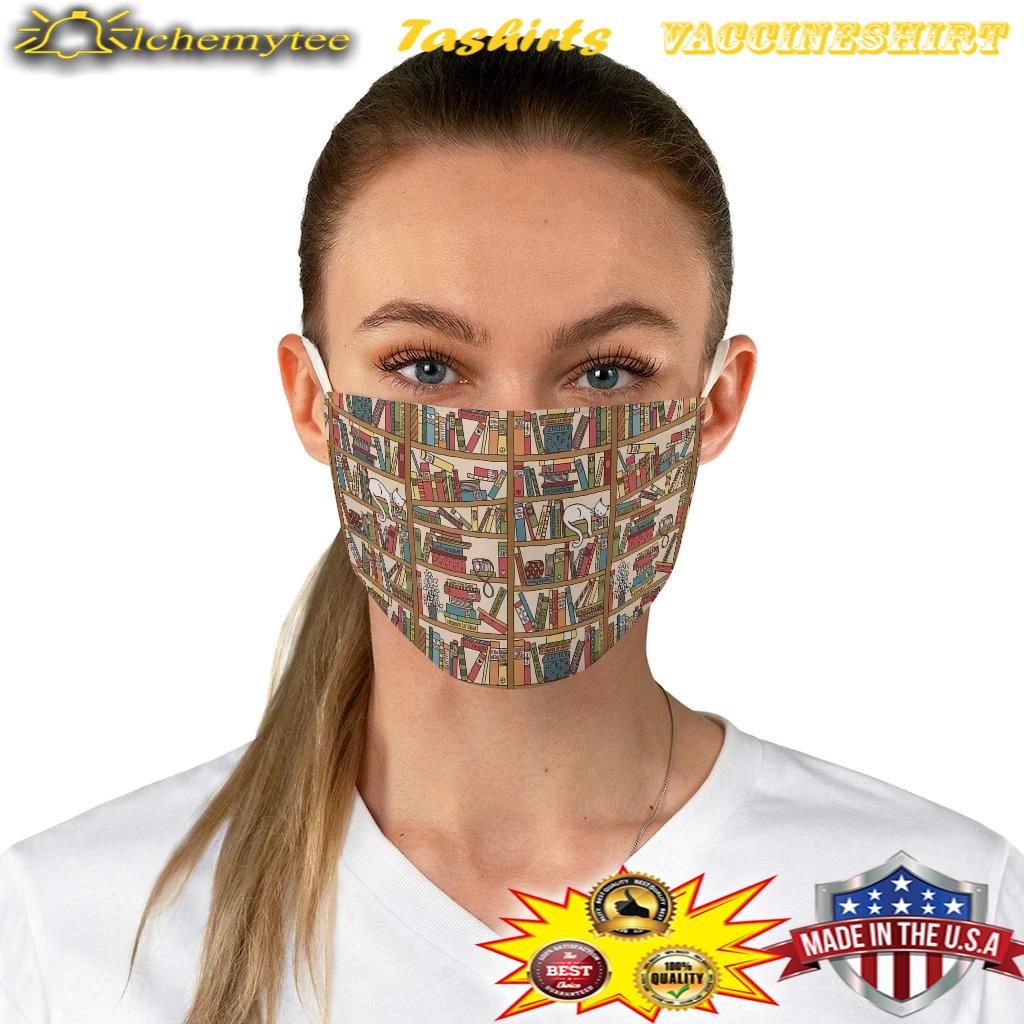 Bookish pattern fabric face mask