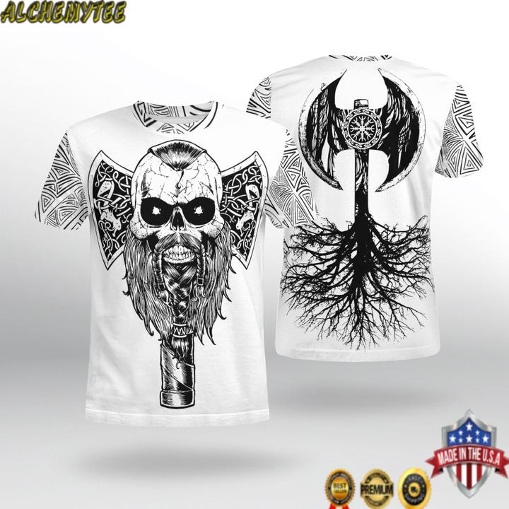 Viking hammer tree axe 3D Shirt