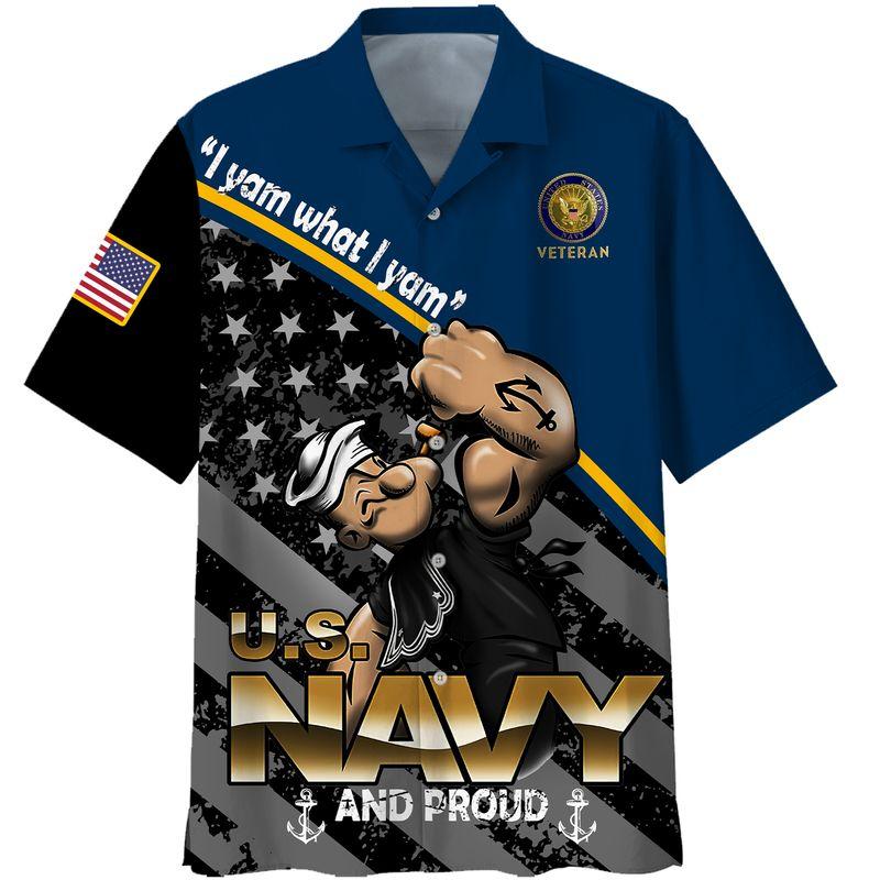 Popeye Navy veteran all gave some Hawaiian shirt and 3d hoodie