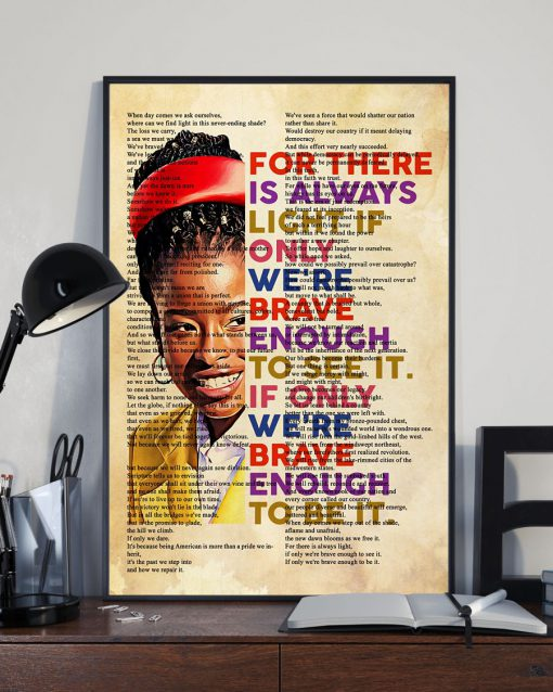 Amanda Gorman There Is Always Light Poem Poster Wall Art
