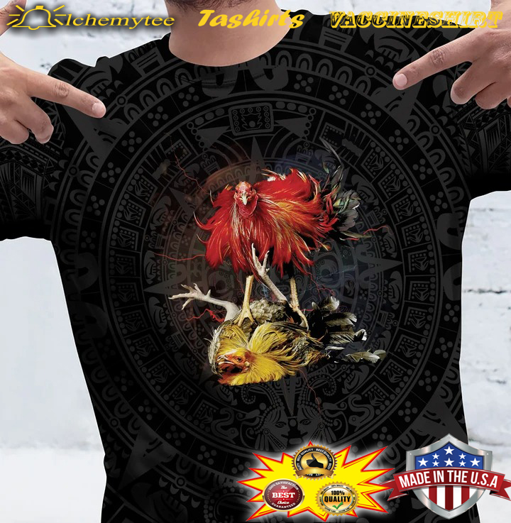 Mexican cock fight rooster 3D shirt