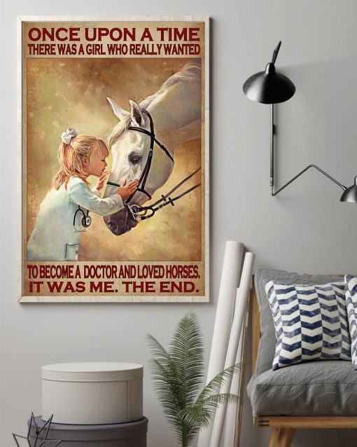 There was a girl who really wanted to become a doctor and loved horses poster