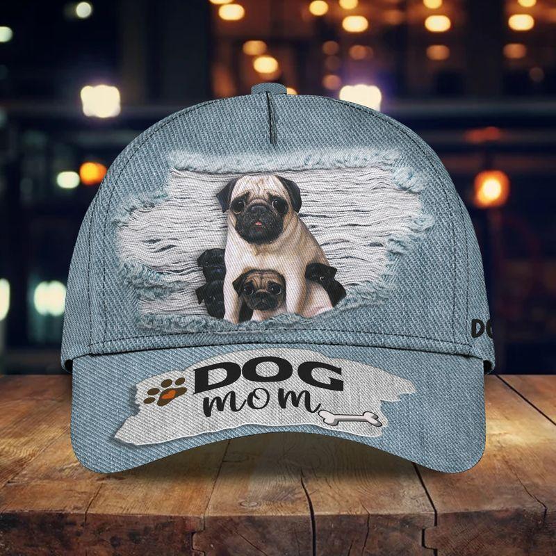 Pug dog mom classic hat cap