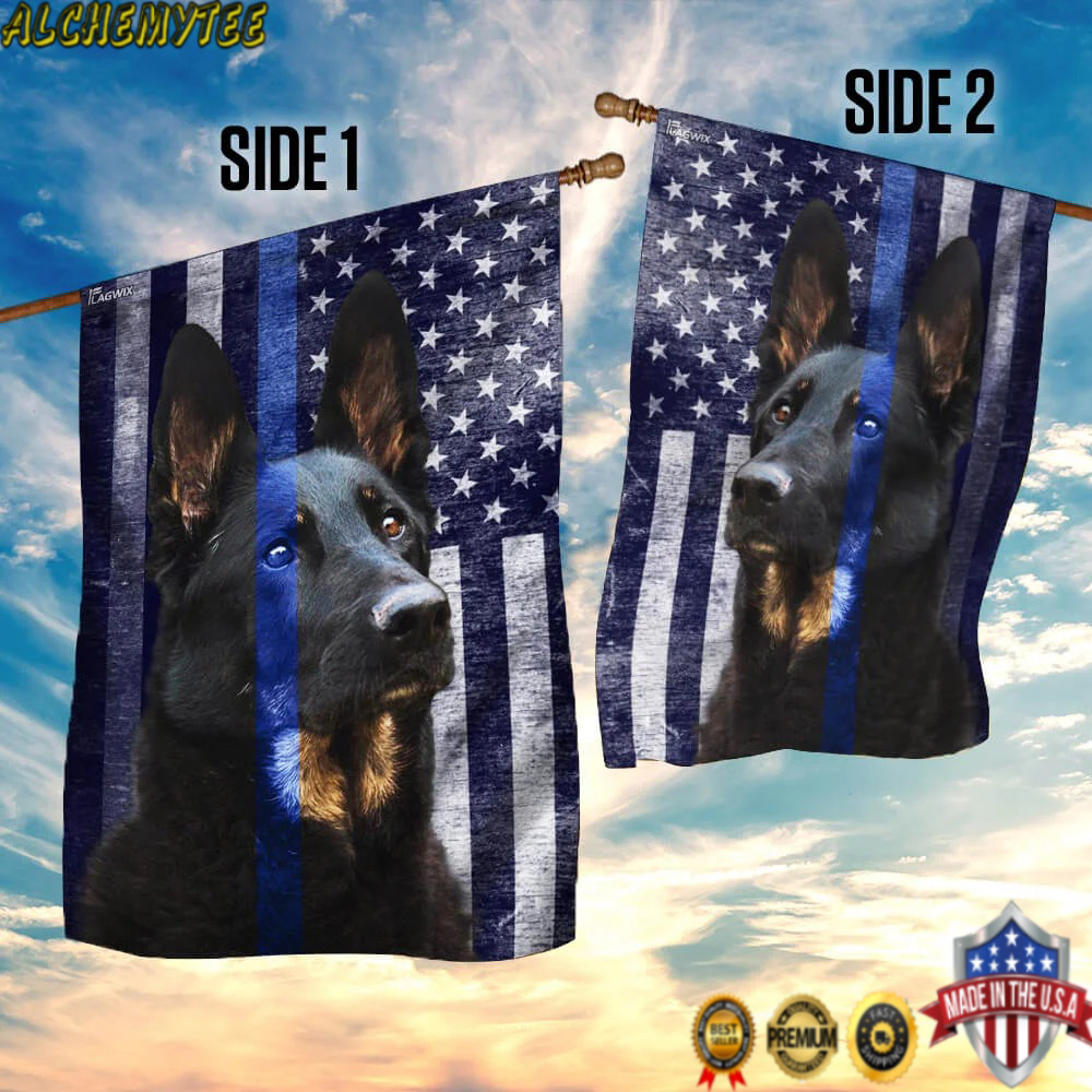 Police Dog K9 The Thin Blue Line K9 Flag