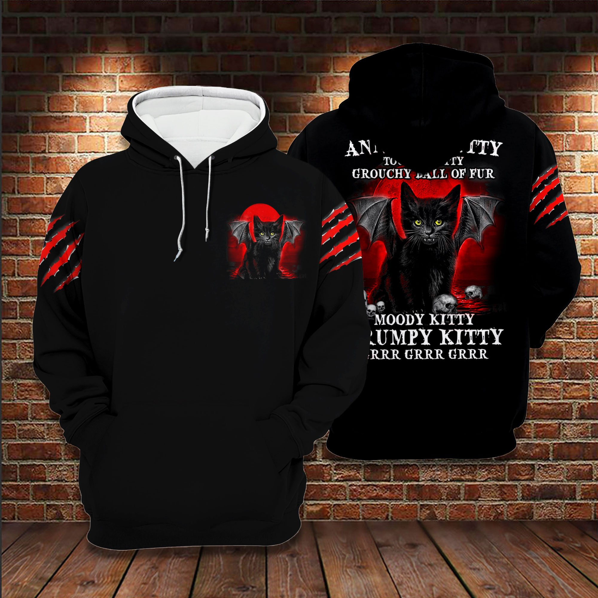 Cat Annoyed Kitty 3D Full Print Hoodie And Shirts