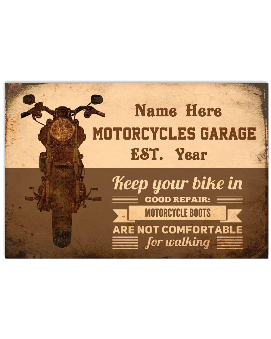 Motorcycles garage keep your bike in good repair custom name poster