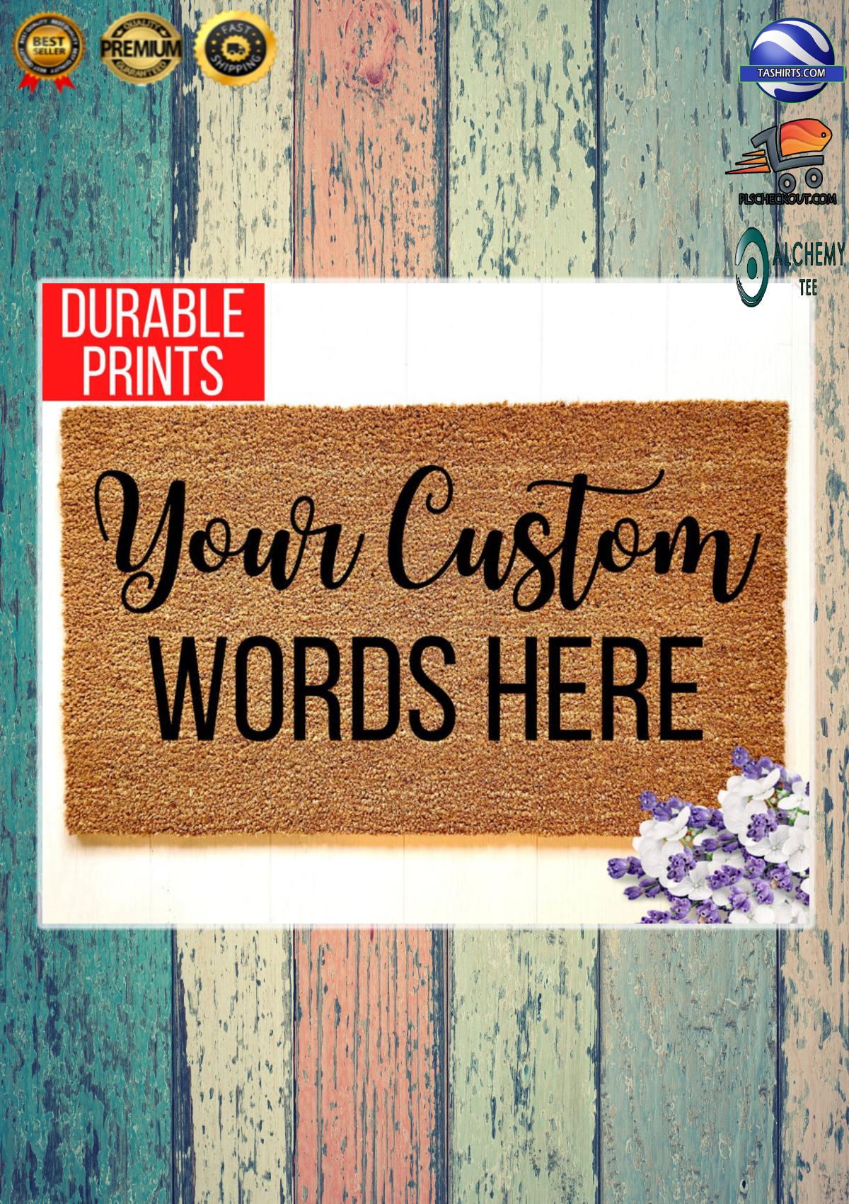 Personalized custom customized words housewarming doormat