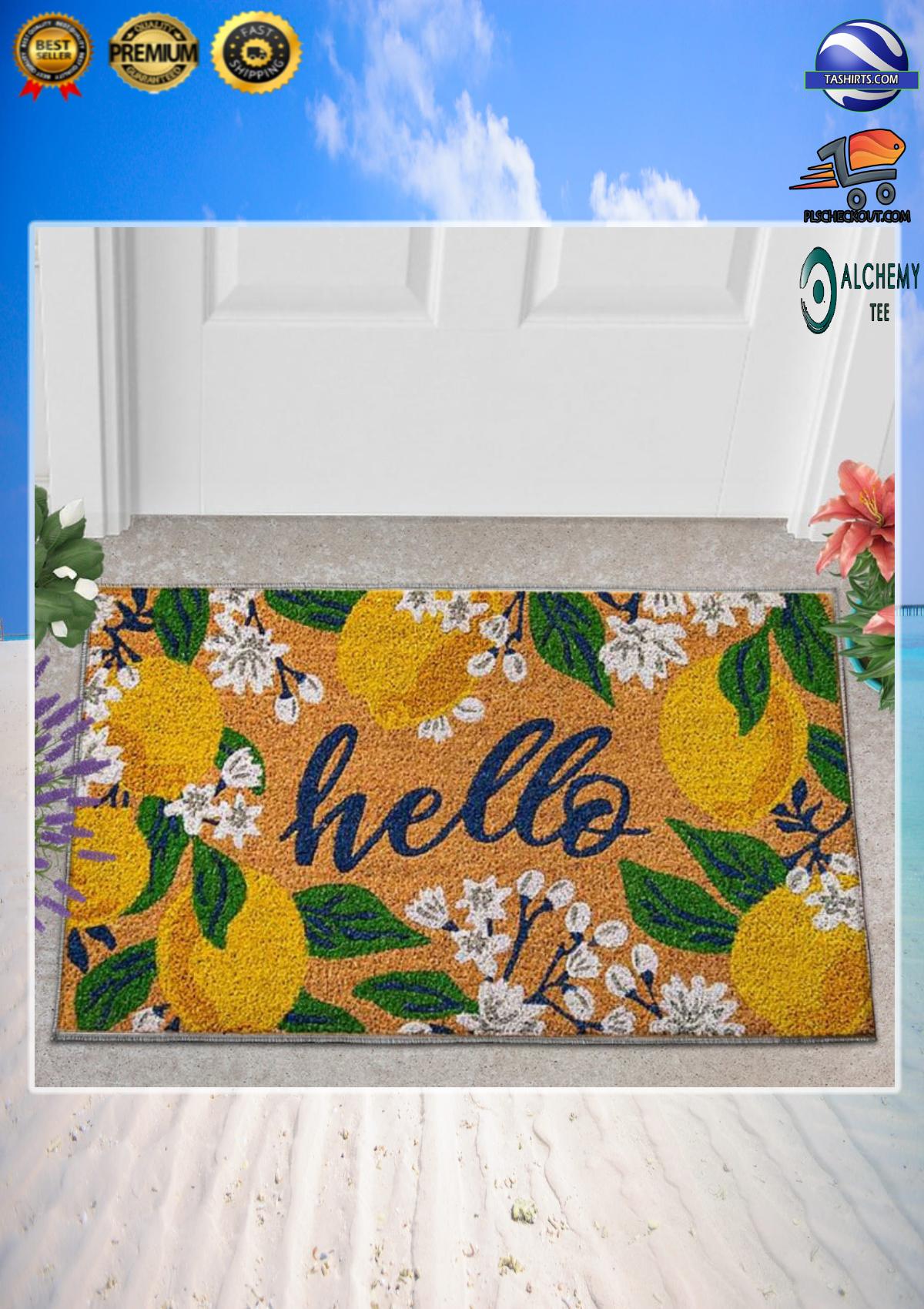 Hello lemons doormat