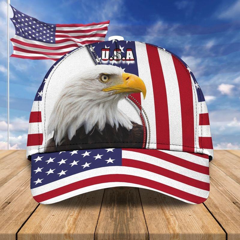 Eagle american flag classic cap