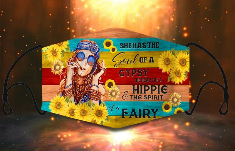 She had the soul of gypsy the heart of a hippie and the spirit of a fairy face mask