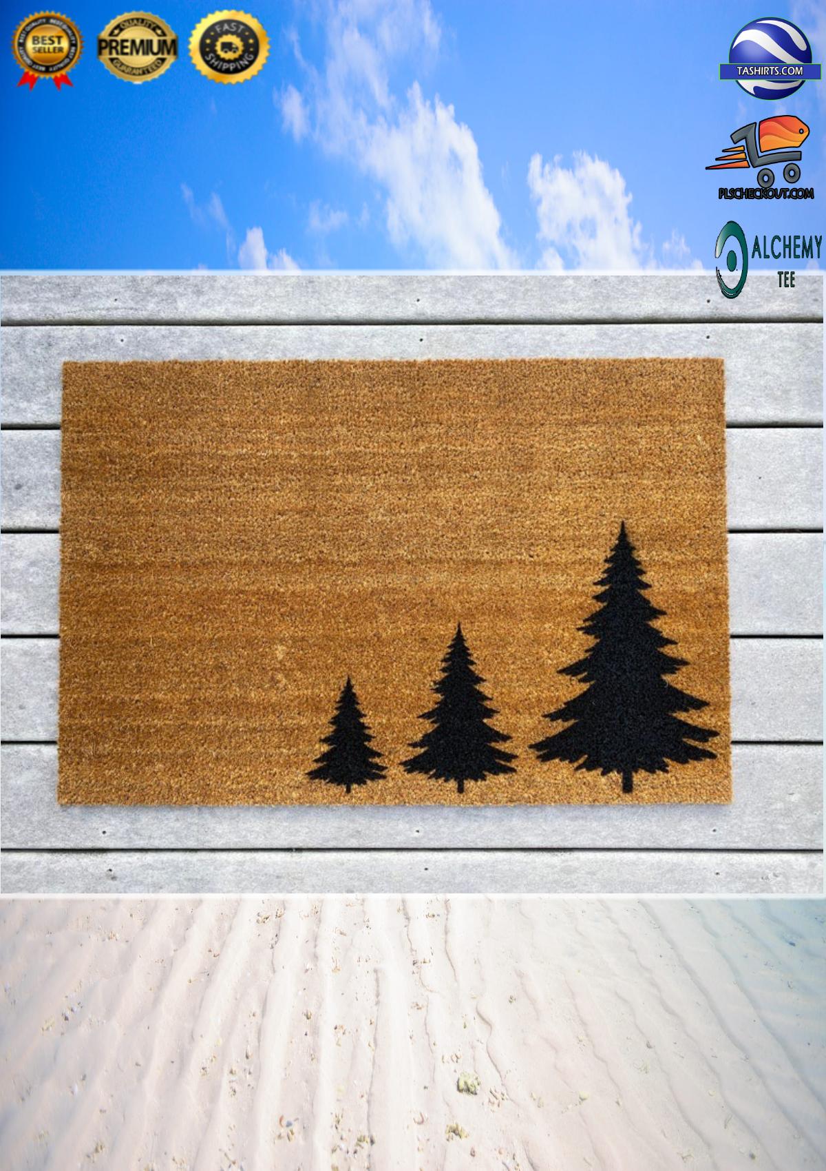 Three Pine Tree Coir Doormat