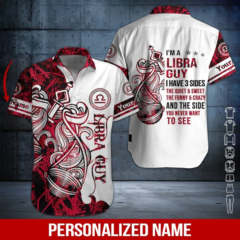 Personalized Name Libra Guy 3D All Over Printed Hoodie