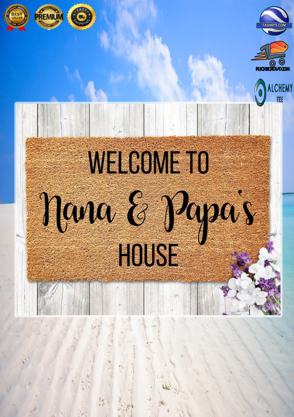 Personalized Customized Welcome to house doormat