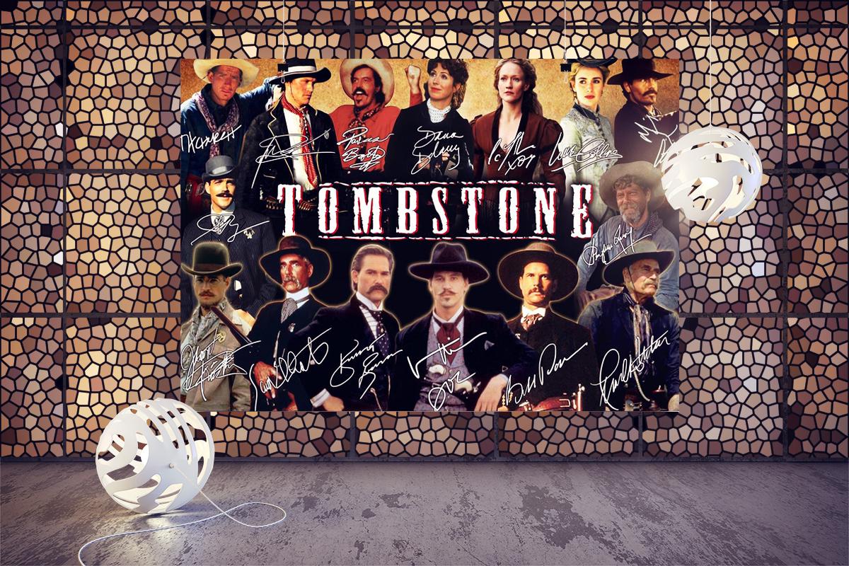 Tombstone actors signatures poster