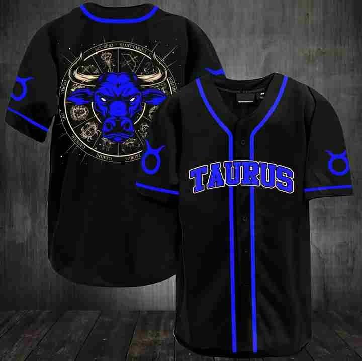 Stunning zodiac taurus baseball jersey shirt