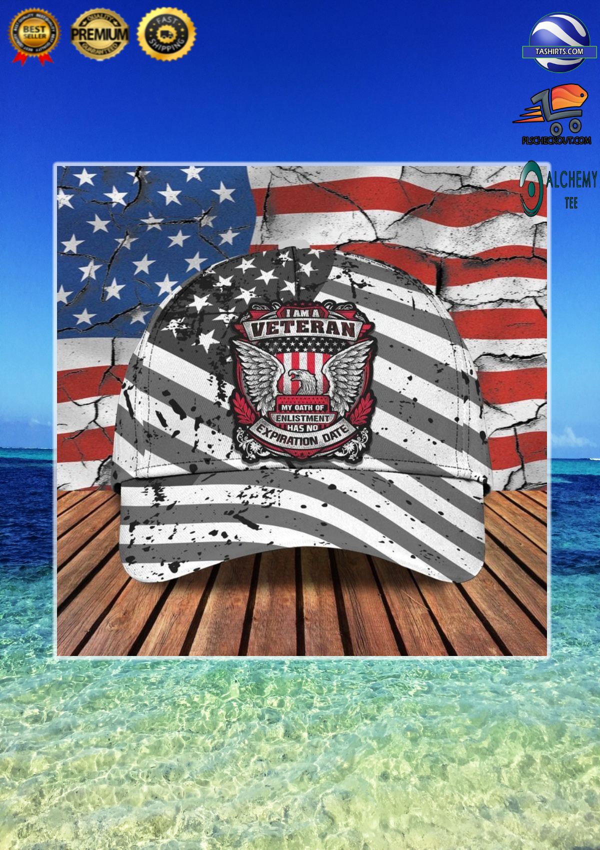 I am a veteran my oath of enlistment has no expiration date classic cap