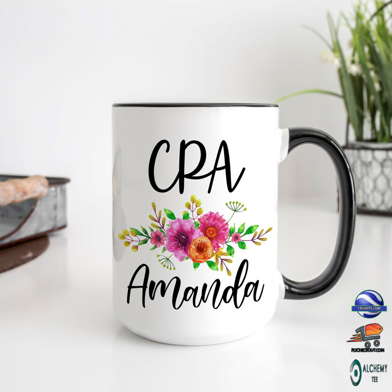 Personalized CPA Mug For Women accent Mug